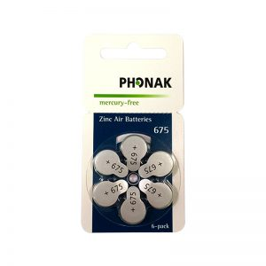Mercury Free Phonak Hearing Aid Batteries Size 675 <br>(5 packs + FREE 5 packs total 60 cells)<br>Hurry Up! Limited Stock!